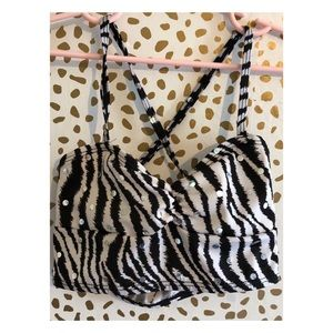 Other - Zebra print and sequin dance crop top.